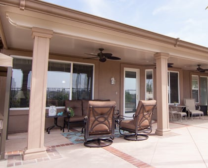 aluminum solid patio cover in orange county