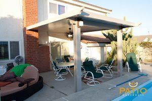 Elitewood Solid Patio Cover in Orange County, California