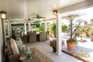Orange County, CA Elitewood Solid Patio Cover