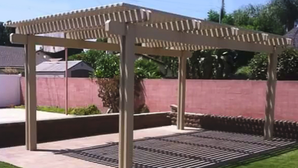 Pergola Aluminum Patio Covers - Aluminum Pergola Installed