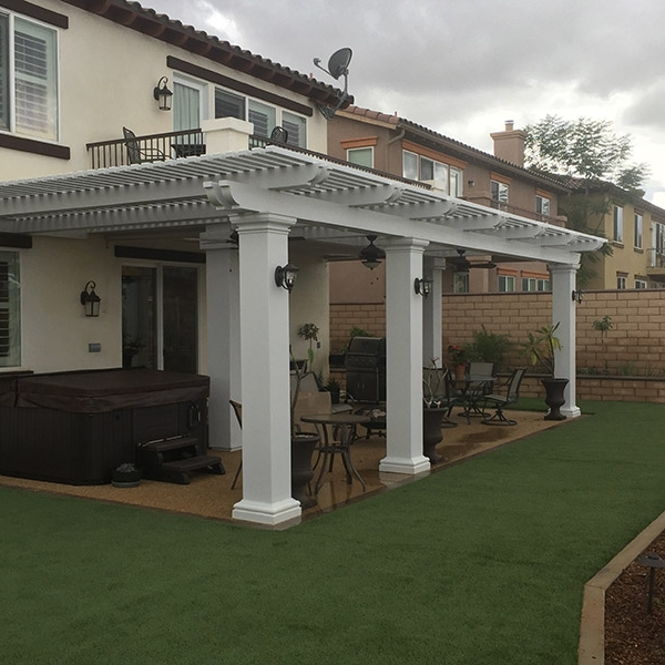 Elitewood Lattice Patio Cover In Orange County, California