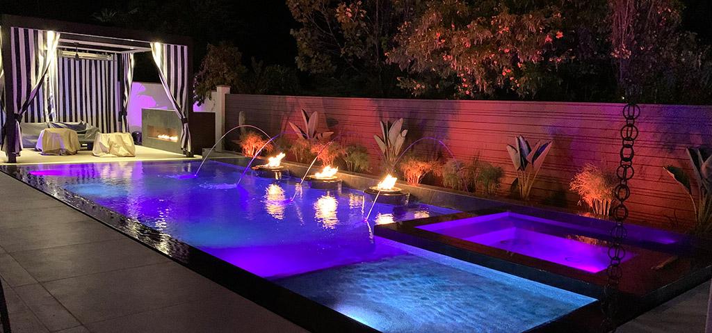 Apollo Louvered Patio Cover in Pool Area