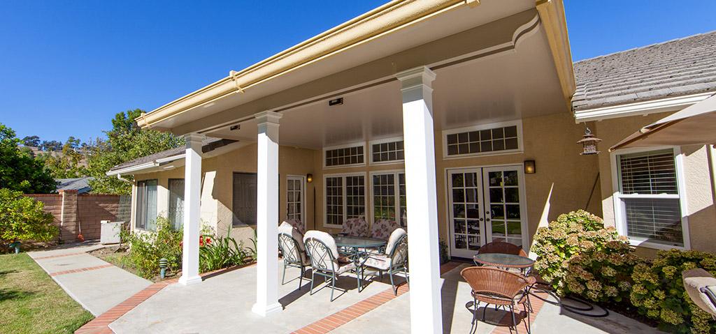 Solid patio cover in Orange County, CA