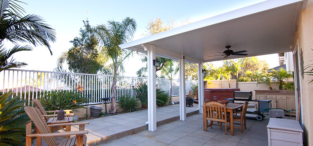 Solid patio cover outdoor space
