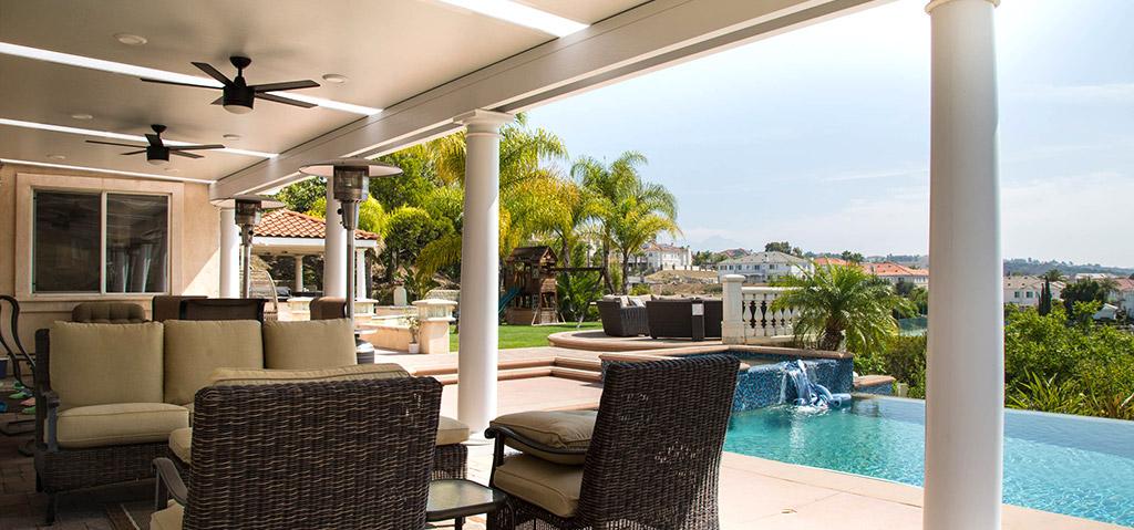 Orange County aluminum solid patio cover